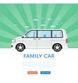 website design with family minivan vector image