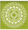 white wheel mandala green background image vector image