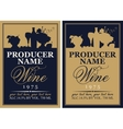 wine label set with the silhouette of a still life vector image vector image