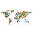 World map of colorful bubbles vector | Price: 1 Credit (USD $1)