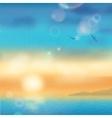 Sunset Seaside Background vector image