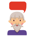 Grandfather with bubble vector image