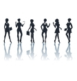 Buisness Woman Silhouettes Set vector image