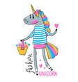 a rainbow unicorn in vector image vector image