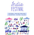 advertising poster for indie music festival vector image vector image