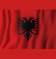 albania realistic waving flag national country vector image vector image