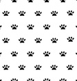 Animal footprint pattern vector image vector image