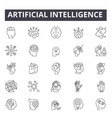 artificial intelligence line icons for web and vector image vector image