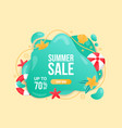 beautiful summer sale background with starfish vector image vector image