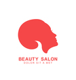 beauty salon logo template vector image