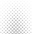 Black and white square pattern background vector image vector image
