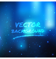 Blue shine light background vector image vector image