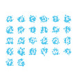 bubble alphabet collection set graphic design vector image vector image