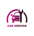 car repair logo auto servise logo vector image
