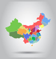 china map with province region flat on isolated vector image vector image
