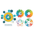 circle infographic templates collection vector image vector image