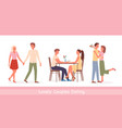 couple people meet on date vector image