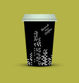 creative coffee with brand new coffee text vector image vector image