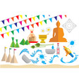 design of songkran festival vector image