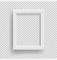 empty realistic photo frame with transparent vector image vector image