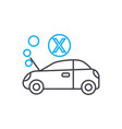 engine overheating thin line stroke icon vector image vector image