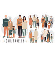 families from different countries cartoon vector image