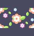 flowers with green leaves spring season floral vector image vector image