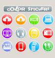 hi tech color stickers vector image