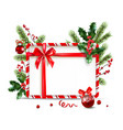 holiday nature frame and ball vector image vector image