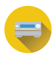 Home theater receiver icon vector image vector image