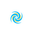 hurricane logo typhoon logotornado logo wind vector image vector image