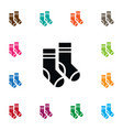 isolated socks icon hosiery element can be vector image