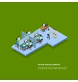 Isometric Presentation Room Concept vector image vector image