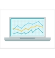 Laptop with Diagram on Screen vector image vector image