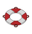 lifesaver float symbol vector image vector image