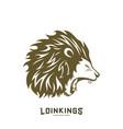 lion head logo design silhouette lion vector image