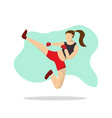 martial art woman vector image vector image