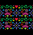 mexican folk art vibrant seamless pattern vector image vector image