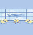 modern airport waiting flight zone flat vector image