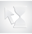 Paper cursor with hourglass vector image vector image