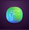 presentation app icon vector image