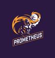 prometheus and a sports ball sports emblem vector image