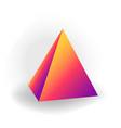 pyramid - 3d geometric shape with holographic vector image vector image
