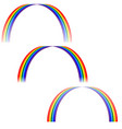 rainbow sign set 305 vector image vector image