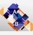 repetition of overlapping color squares vector image vector image