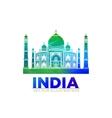 Retro World Wonder of Taj Mahal Palace in India vector image vector image