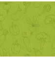 Seamless green vegetables background vector image vector image