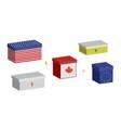 set financial boxes vector image