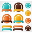 Set of labels badges and ribbons vector image vector image