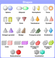 shape 3d Learning the 3D shapes for kids vector image